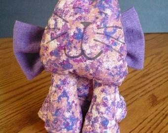Purple Cotton Kitten Stuffed with Polyester