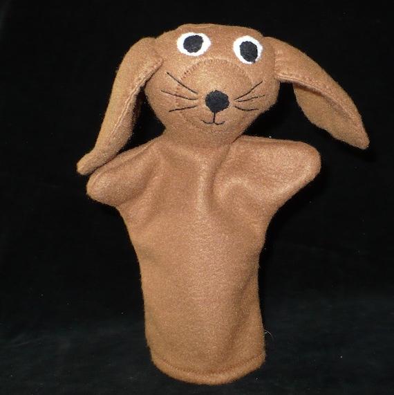 Brown Dog Fleece Hand Puppet