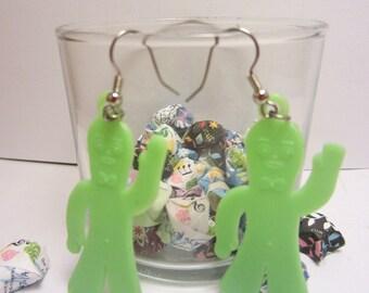 Vintage gumby charm earrings