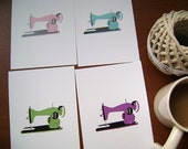 Sewing Machine Clip Art  (Set of 4)------------ for card making, digital scrapbooking,graphic design and paper goods