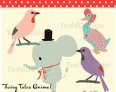 Fairy Tale Animal --- Digital Clip Art for wedding invitations, baby shower, cards and more