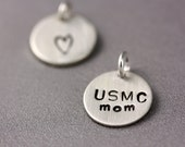 Add-On Personalized Charm - Sterling Silver Stamped Disc, Medium