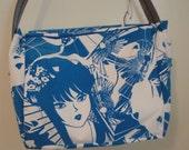 Blue Anime Girl Messenger Bag