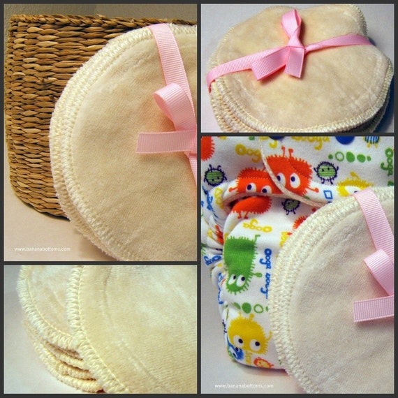 3 pairs of All Natural Eco Friendly Bamboo Velour Nursing Breast Pads