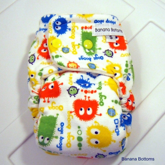 Small Fitted Cloth Diaper SECONDS