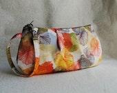 Pleated Wristlet Zipper Pouch - Blooms in Terre - Last One