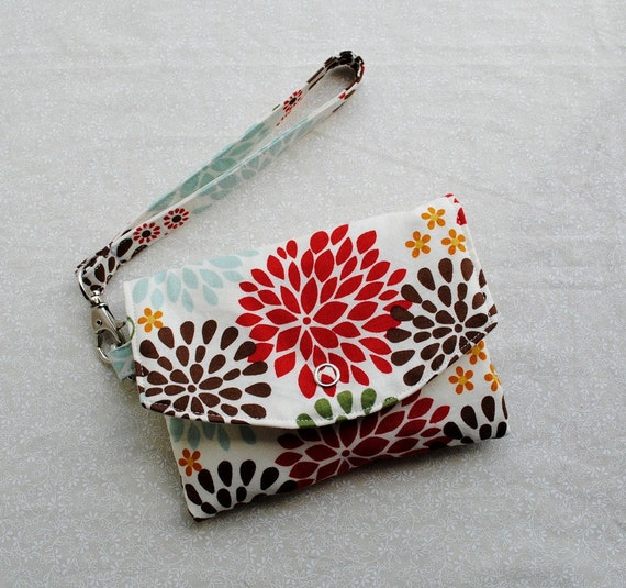 Mini Pouch // Smartphone Case w/ Removable Strap - Kennedy Floral