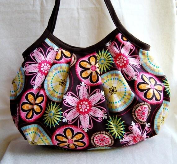 Shell Bag - Brown Carnival Bloom