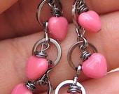Pale Pink Tiny Heart Earrings