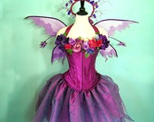 Fairy Costume - The Faerie Muse - adult size medium corset top 34 - 38