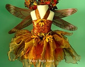 Reserved for Kathryn - Copper Woodland Faerie Flowergirl -