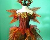 LIMITED SALE - Adult fairy costume - The Copper Acorn Faerie - Corset bust 38