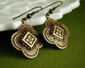 Whispers of the Past Earrings - Brass Earrings