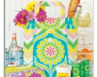 Heather Bailey New Leaf Folding Totes Sewing Patterns ON SALE