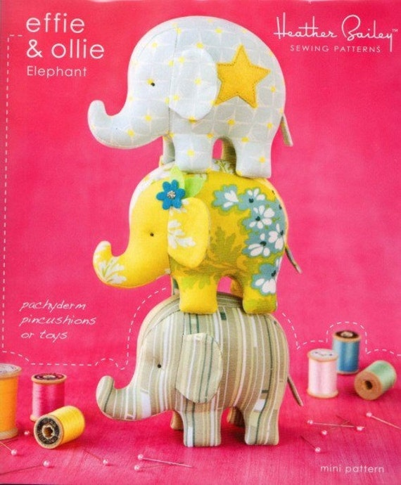 Effie and Ollie Elephant Sewing Pattern