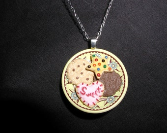 Cookies on a Plate Necklace