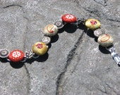 Button Bracelet-Ladybug