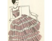 Fashion Illustration print - The Debutante - 4 for 3 SALE