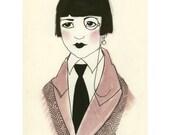 Art Deco fashion illustration   Paula -  4 X 6 print - 4 for 3 SALE