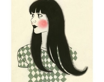 "Fashion Illustration Art Print 4 for 3 SALE -  Dorothy - 4"" x 6"""