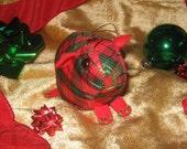 Guinea Pig Ornament - Red Plaid