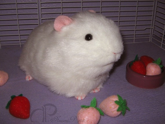 Big Guinea Pig Plush - White
