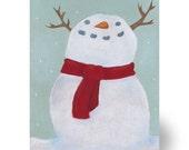 Christmas Cards - Rudolph the Snowman x 4