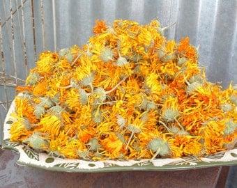 Homegrown dried calendula