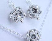 Sparkle Ball Necklace and Earring Set