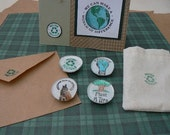 Eco Message Card  Magnet Set