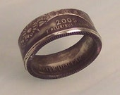 Silver coin Ring Kansas quarter art jewelry very nice unique gift size 6 1\/2 year 2005