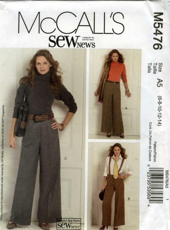 60 Percent OFF (New) Petite Pants with Suspenders Pattern M5476 (Uncut) Original Factory Fold