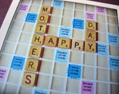 Mother's Day Card // Scrabble Message