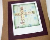 Wedding Announcement // Scrabble Card