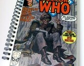 Special Listing for Jenni / hapheagora / Vintage Doctor Who Recycled Comic Book Sketchbook