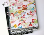 Three Ring Binder  // Mushrooms and Rainbows