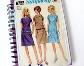 Sewing Journal & Notebook // Recycled Vintage Dress Pattern // Simplicity 6222