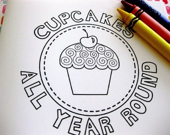 Cupcake Coloring Book