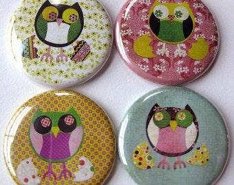 Baby Owls Magnet Set