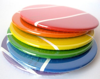Coasters //  Rainbow // Recycled Paint Samples