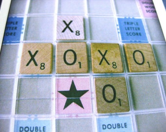 Scrabble Love Hugs & Kisses Card // XOXO