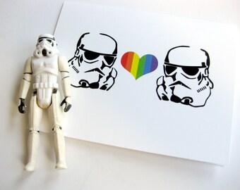 Valentine Card // Star Wars Inspired Stormtrooper Love Card