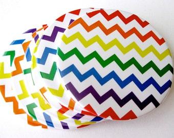 Rainbow Home Decor // Chevron Coasters // Set of 6