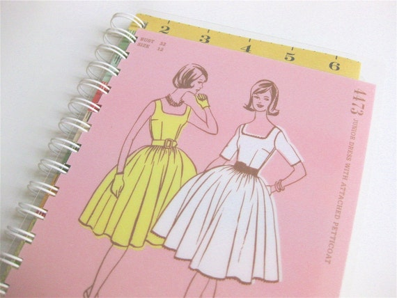 Notebook Cover Sewing Pattern ~ Retro sewing pattern notebook