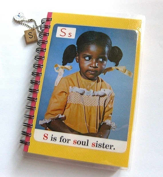 S is for Soul Sister 1970s ABC Flashcard Notebook