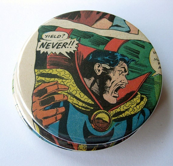 Coasters // Doctor Strange Comic Book // Recycled Vintage
