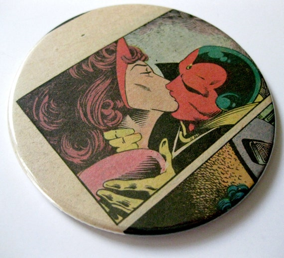 Vision & Scarlet Witch Coasters // Recycled Vintage Comic Book