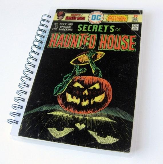 Haunted House Notebook & Sketchbook // Recycled Vintage Comic // Sale