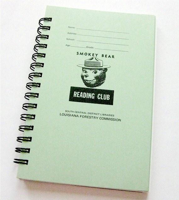 Vintage Smokey Bear Reading Club Notebook