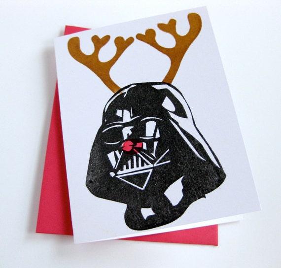 Star Wars Christmas Card // Reindeer Darth Vader